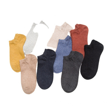 solid color thin short women female socks